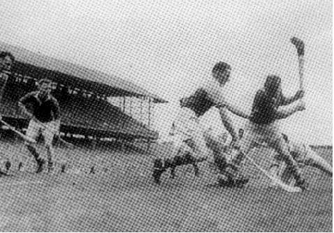 Christy Ring in action in the '56 All Ireland Final versus Wexford